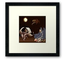 The Lady and the Dragon Slayer Framed Print