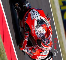 Nicky Hayden in Mugello iPhone case by corsefoto