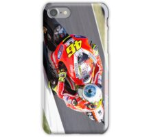 Rossi on his Ducati at Mugello iPhone Case/Skin