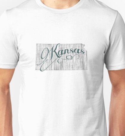 Kansas State Typography Unisex T-Shirt