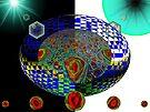 Lazy J on an Anti-Darkness Split Sphere  (UF0477) by barrowda