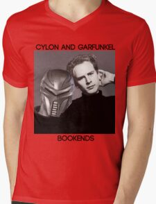 Cylon and Garfunkel Mens V-Neck T-Shirt