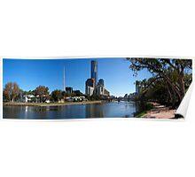 Yarra Walk, Melbourne, Victoria, Australia Poster