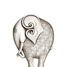 Engraved Elephant (Iphone Case) by FineEtch