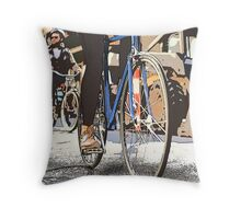 Summer Cycling Throw Pillow