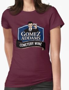 Gomez Addams Cemetery Wine Womens Fitted T-Shirt