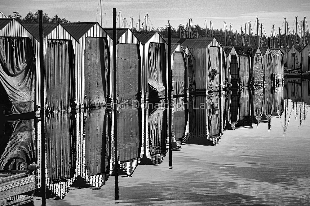 Boat Sheds by Wendi Donaldson Laird