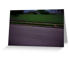 Green Quarter Mile Greeting Card