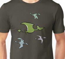 a flock of pterosaurs Unisex T-Shirt