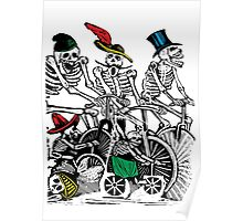 Calavera Cyclists Poster