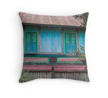 Minangkabau house Throw Pillow