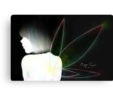 BW Pixie Colored Canvas Print