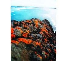 orange ocean blue Photographic Print