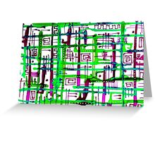 Traffic - Lime and Purple Greeting Card