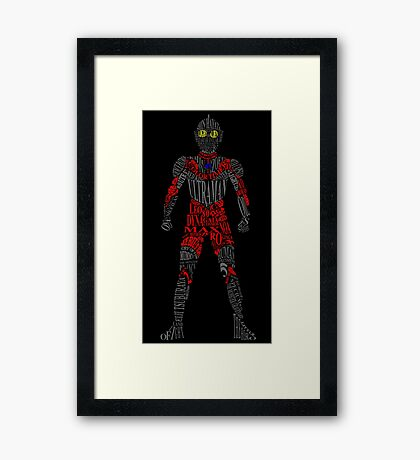 Ultraman of Many Words Framed Print