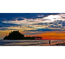 Island sunset Photographic Print