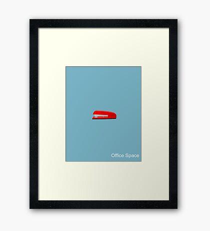 Office Space Minimal Framed Print