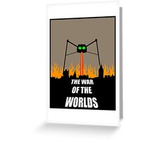 War of the Worlds Minimal Greeting Card
