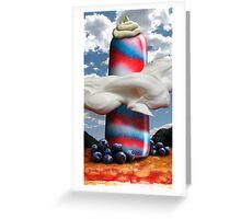 Popsicle Patriot Pillar Greeting Card