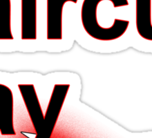 Bad Haircut Day (black) Sticker