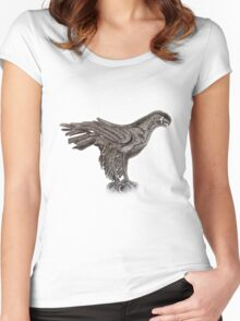 Eagle  TEE SHIRT/BABY GROW/STICKER Women's Fitted Scoop T-Shirt