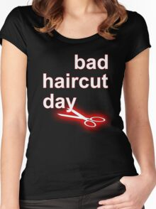 Bad Haircut Day (white) Women's Fitted Scoop T-Shirt