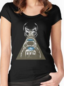 Impossible Astronaut V2 Women's Fitted Scoop T-Shirt