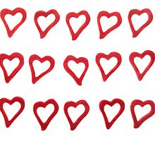 Hearts on white background  by fotorobs
