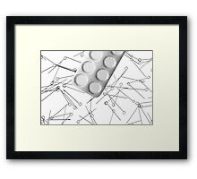 Problem- drug addiction Framed Print