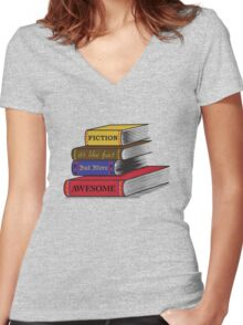 Fiction Is Awesome Women's Fitted V-Neck T-Shirt