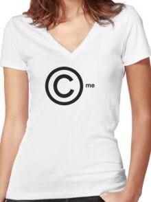 Copyright Me (black) Women's Fitted V-Neck T-Shirt
