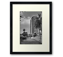Just an HDR Monochrome - HDR Pathway in Pattaya Framed Print