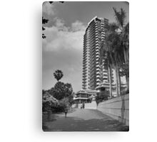 Just an HDR Monochrome - HDR Pathway in Pattaya Canvas Print