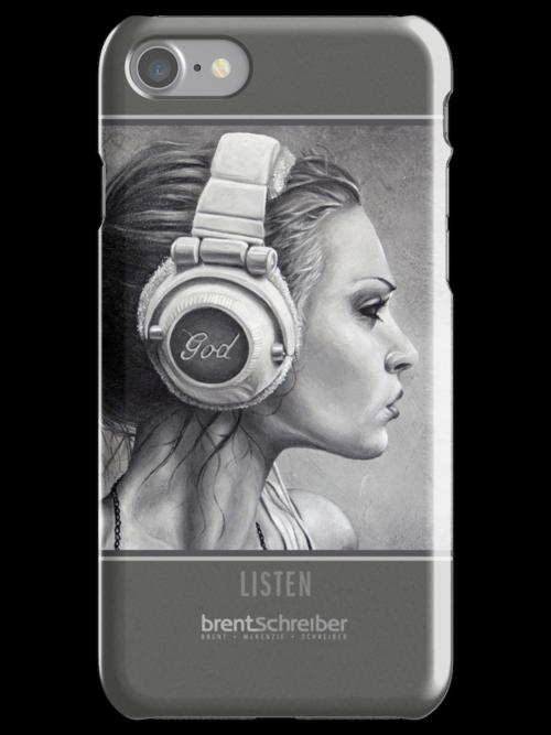 LISTEN iPhone Case by Brent Schreiber