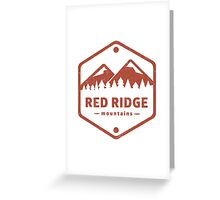 Warcraft Red Ridge Mountains Greeting Card