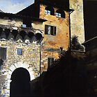 San Gimignano -Oil by Richard Sunderland