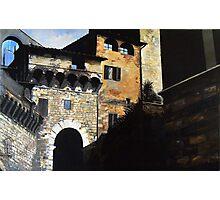 San Gimignano -Oil Photographic Print
