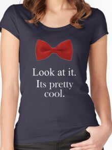 Bowties are cool. Women's Fitted Scoop T-Shirt