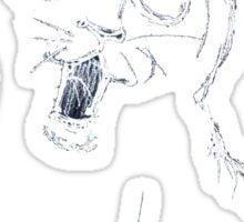 Cat Sketch White Sticker