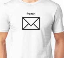 French Letter (black) Unisex T-Shirt