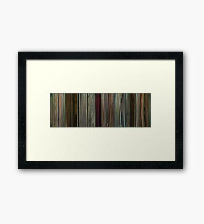Moviebarcode: Potiche (2010) Framed Print