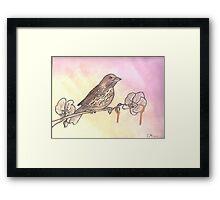 Gold Blood Bird Framed Print