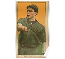 Benjamin K Edwards Collection Barney Pelty St Louis Browns baseball card portrait 002 Poster