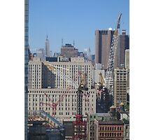 Ground Zero Cranes Photographic Print