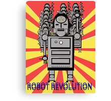 Robot Revolution  Canvas Print