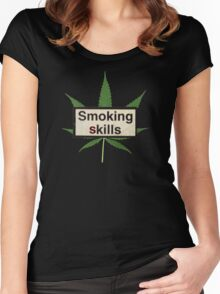 Smoking skills Women's Fitted Scoop T-Shirt