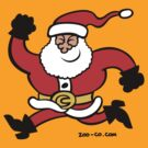 Running Santa Claus by Zoo-co