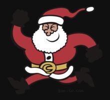 Running Santa Claus Kids Tee