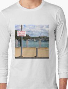 No Parking Sign beside a Harbour Long Sleeve T-Shirt