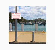 No Parking Sign beside a Harbour Unisex T-Shirt